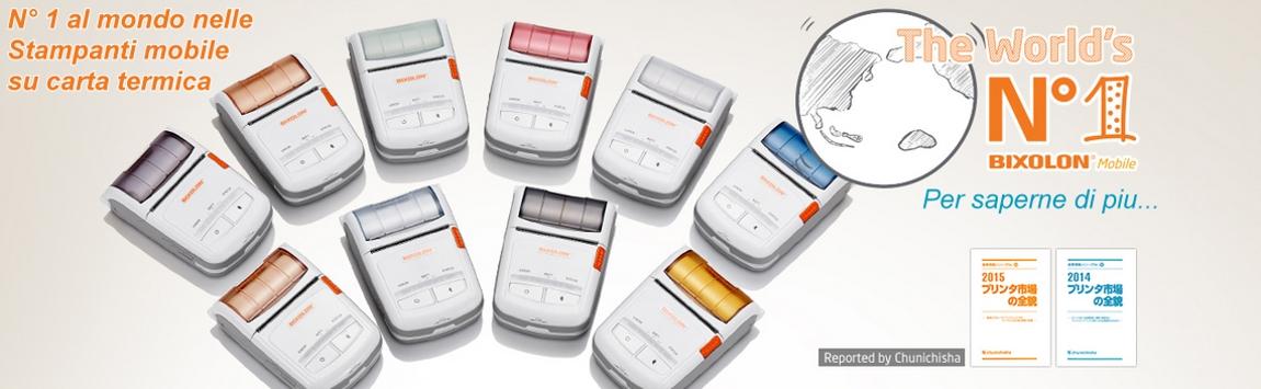Bixolon Numero 1 al mondo nelle stampanti Mobile